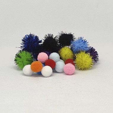 Plys og glitter balls til NoseWork