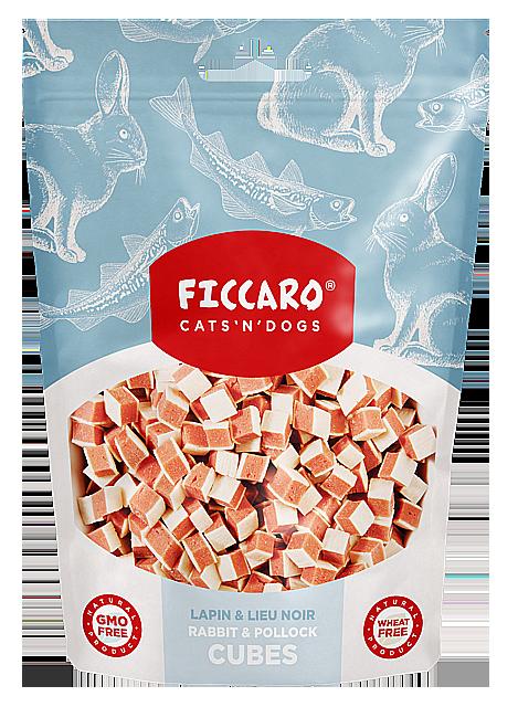 Ficcaro Rabbit and pollock cubes